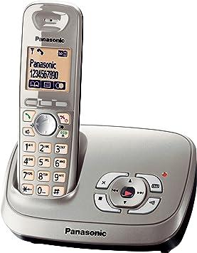 Panasonic KX-TG6521GN - Teléfono inalámbrico con contestador automático, color plateado [Importado de Alemania]: Amazon.es: Electrónica