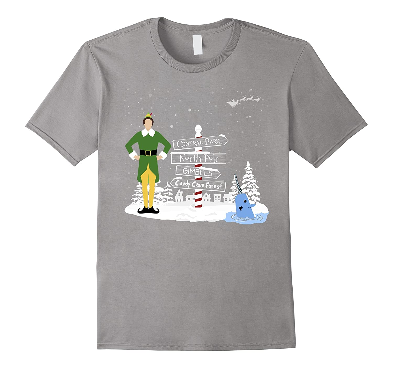 Christmas Elf Towns Holiday Santa Buddy Snow Shirt-T-Shirt