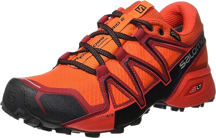 Salomon Homme Speedcross Vario 2 GTX Chaussures de Course à Pied et Trail Running, SynthétiqueTextile, Gris, Pointure