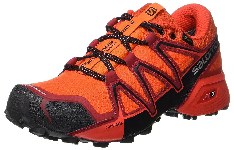 Salomon Herren Speedcross Vario 2 GTX Traillaufschuhe  44 EU|Orange (Scarlet Ibis/Fiery Red/Black)