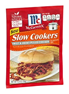 McCormick Slow Cookers Sweet & Smoky Pulled Chicken Seasoning Mix 1.25 OZ (Pack of 12)