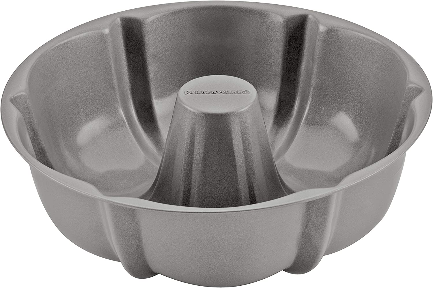 Farberware Fluted Mold Pan/Nonstick Pressure Cooker Bakeware, Round, 8.25 Inch, Gray