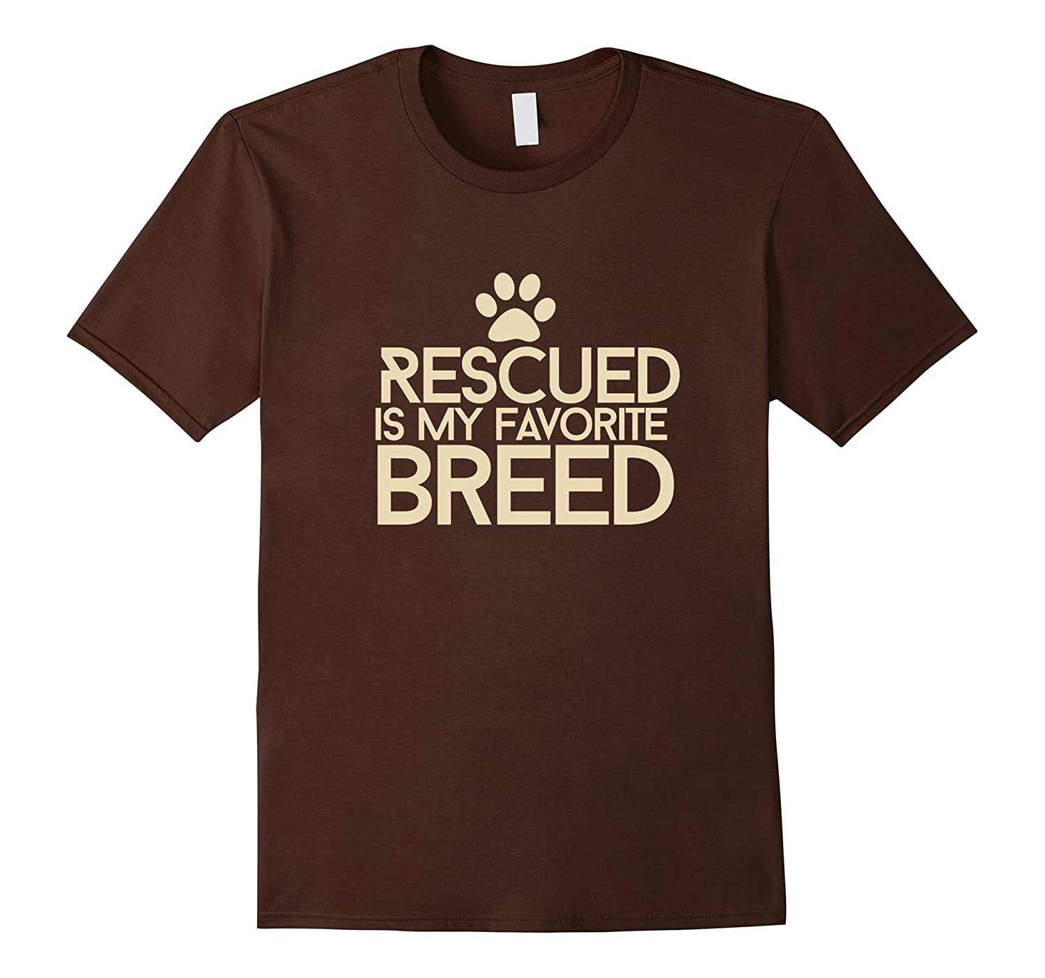 Rescued is my favorite breed shirt for fur baby parents-AZP