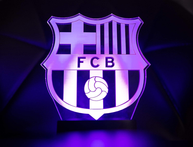 Lampe 3D Officielle /écusson du FC Barcelone Lampe Originale Accessoires de 2019-2020 Cadeau de Bar/ça pour b/éb/é Enfant Enfant Homme Femme Adulte Meilleure d/écoration pour la Maison