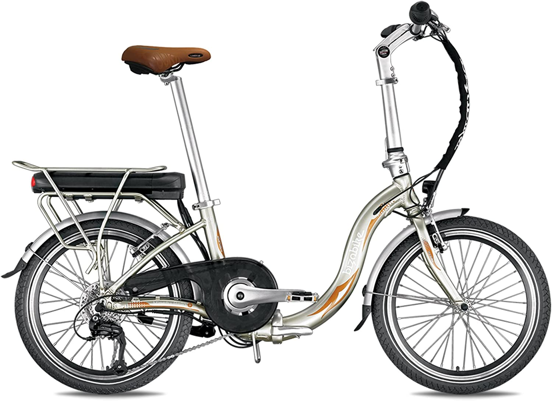 Bicicleta eléctrica plegable miesty Bello oro – Batería: Li-Ion Panasonic 36 V, 14,5 Ah – Autonomía: 140 Km – Peso: 20,3 kg sobre Amazon: Amazon.es: Deportes y aire libre