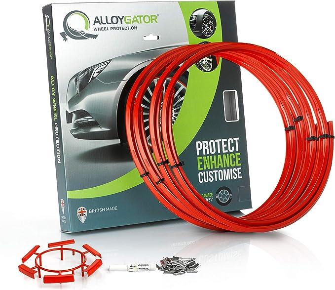 """AlloyGator Exclusive SKY BLUE Wheel Protectors Rim Protectors Fits 12-24"""" Rims"""