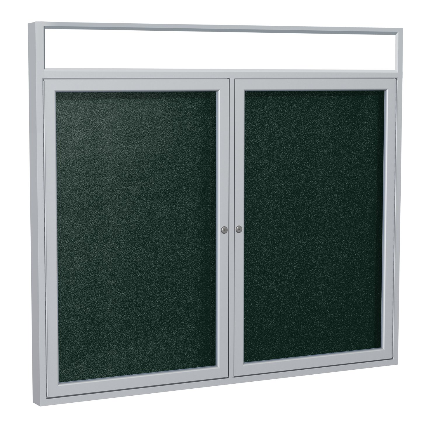 Ghent 36 x 48 Inches Outdoor Satin Frame Enclosed Vinyl Bulletin Board with Headliner , Ebony , Made in the USA