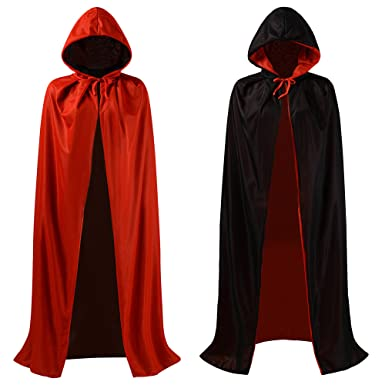 makroyl christmas halloween witch party red black reversible hooded vampires easter capes cloak s