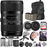 Sigma 18-35mm F1.8 Art DC HSM Lens for Canon DSLR Cameras + Sigma USB Dock with Altura Photo Advanced Accessory and Travel Bu