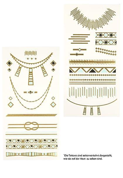 Capelli New York 2 hojas Tatuajes temporales Egypt Style oro ...