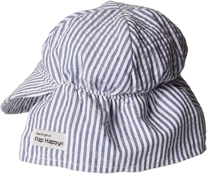 aa24cdcf30da5 Flap Happy Baby Boys  Cotton Poplin Hat
