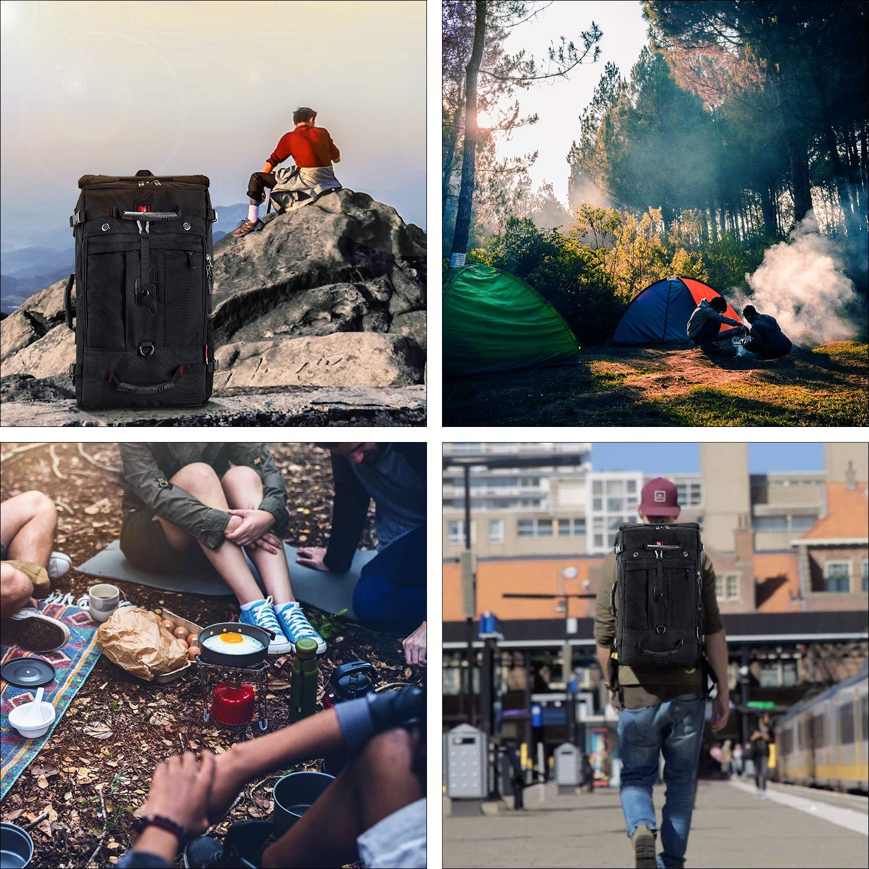 Camping Voyage avec Sac /à Dos de randonn/ée CANSHN 50L 3 en 1 Grand Sac /à Dos de randonn/ée Multifonction pour Homme