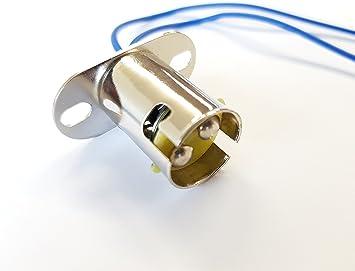 2x Ba15d Fassung 1 Faden Lampenfassung Sockel Stecker Gluhbirne Boot 12v 24v Amazon De Auto