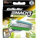 Ancienne version Gillette  MACH3 Power Sensitive - Pack de 8 recharges