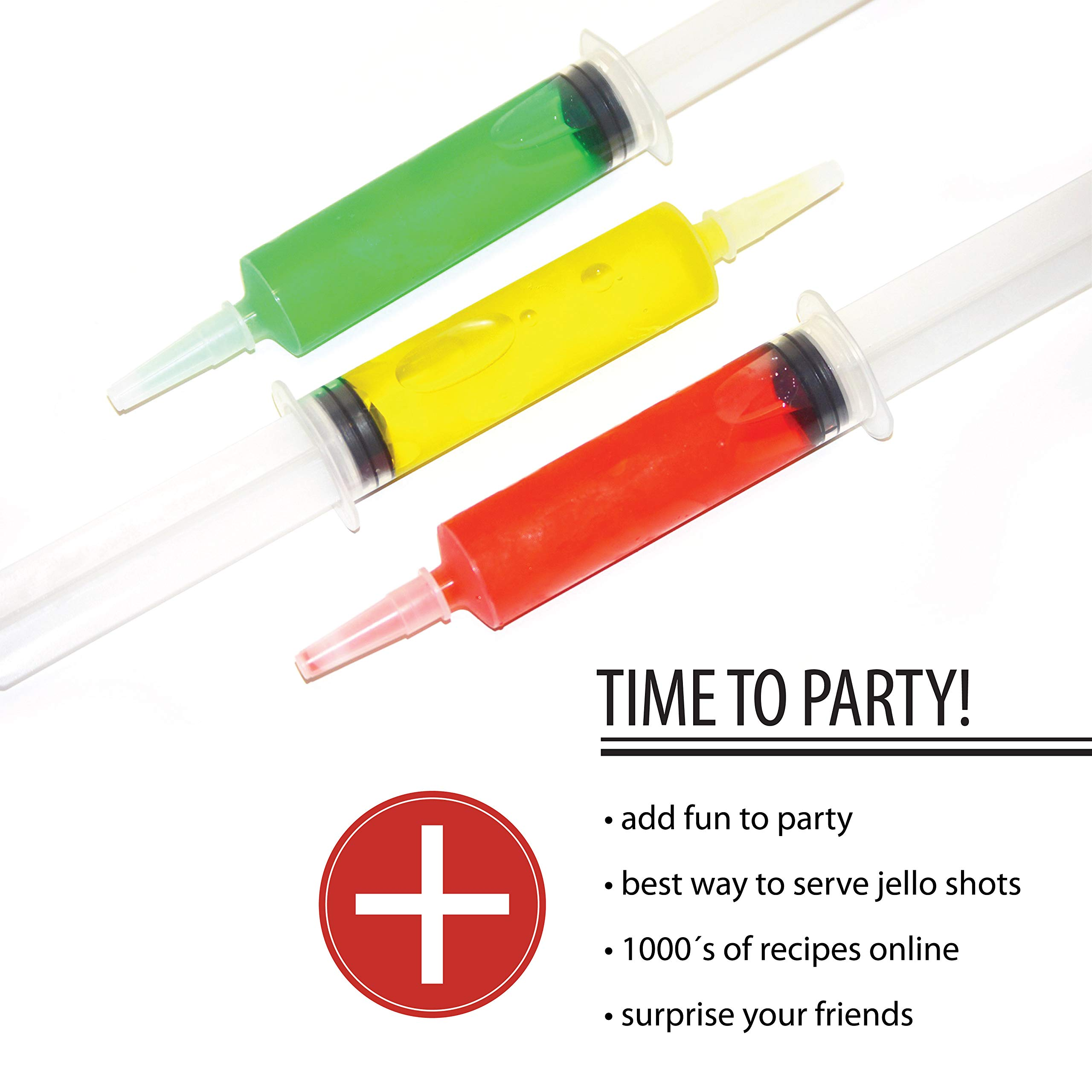 Jello shot syringes 50 pack (2oz) Reusable edible/drink Party seringe alcohol shots. Perfect supplies for Halloween, bachelor/bachelorette, college parties, drinking games, nurse, ladies, Summer Fun by Deke Home (Image #4)