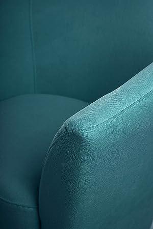 SUENOSZZZ-ESPECIALISTAS DEL DESCANSO Butaca descalzadora Sofia, butaca para Dormitorio tapizada en Tela Turquesa
