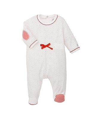 Petit Bateau - Esquijama con Cuello Barco de Manga Larga para bebé, Talla 50 (