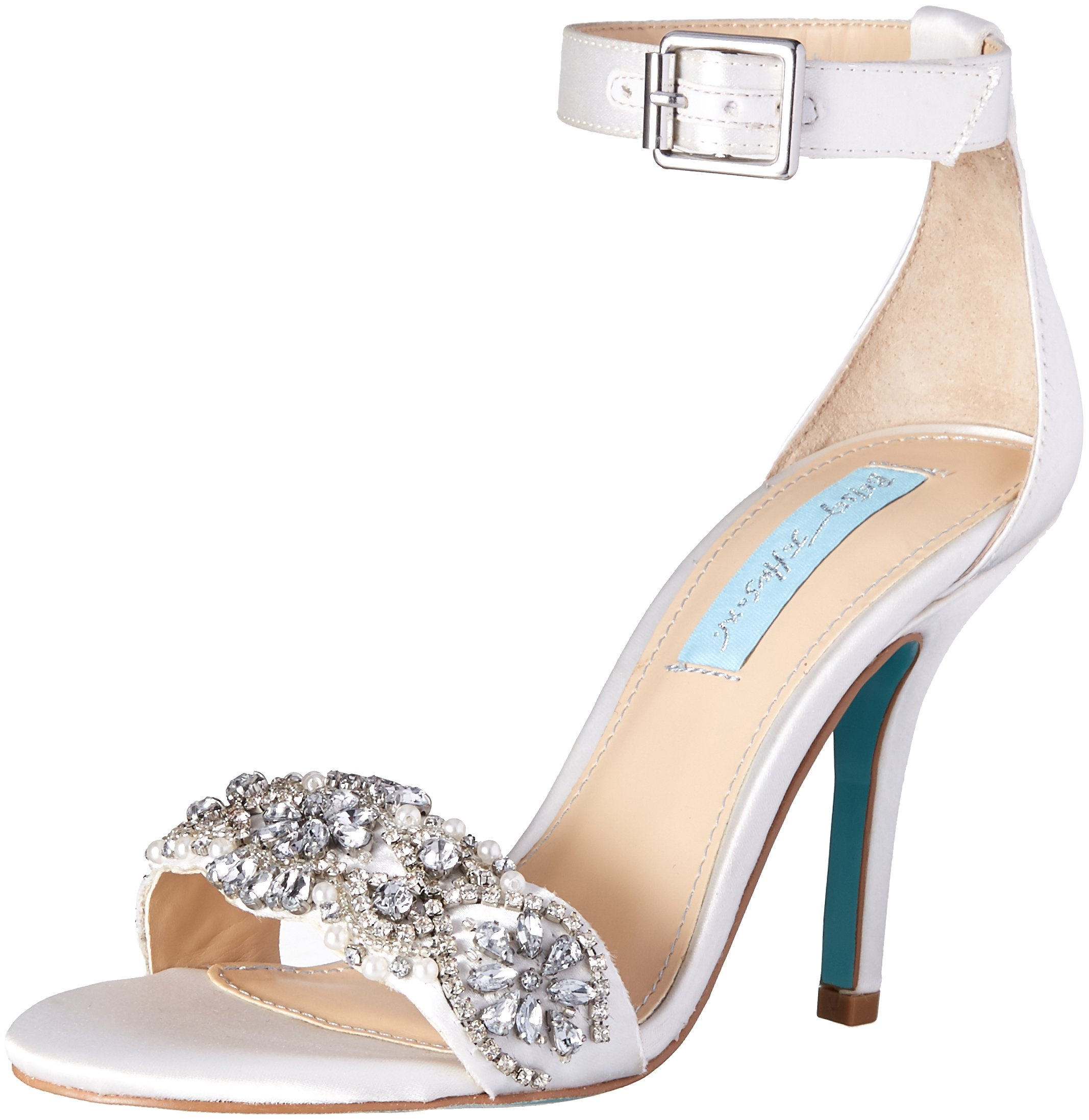 Blue by Betsey Johnson Women's SB-Gina Dress Sandal, Ivory, 5 M US