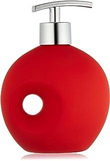 WENKO Design Seifenschale VISIONE rot aus Kunststein Seifen Ablage Halter
