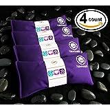 Namaste Yoga Lavender Eye Pillows - 4 Pieces - Purple Cotton By Happy Wraps®