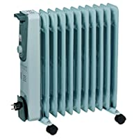 Einhell Ölradiator MR 1125/2 (2500 Watt, 3 Heizstufen, Thermostat, 4 Lenkrollen, praktische Kabelaufwicklung, integrierter Griff)
