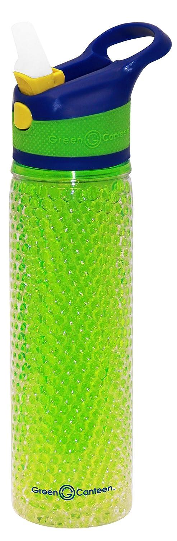 Green Canteen DWPTBCG-600-PAA Double Wall Tritan Plastic Hydration Bottle Crackle Gel with Sippy Cap 19 oz Pink//Aqua