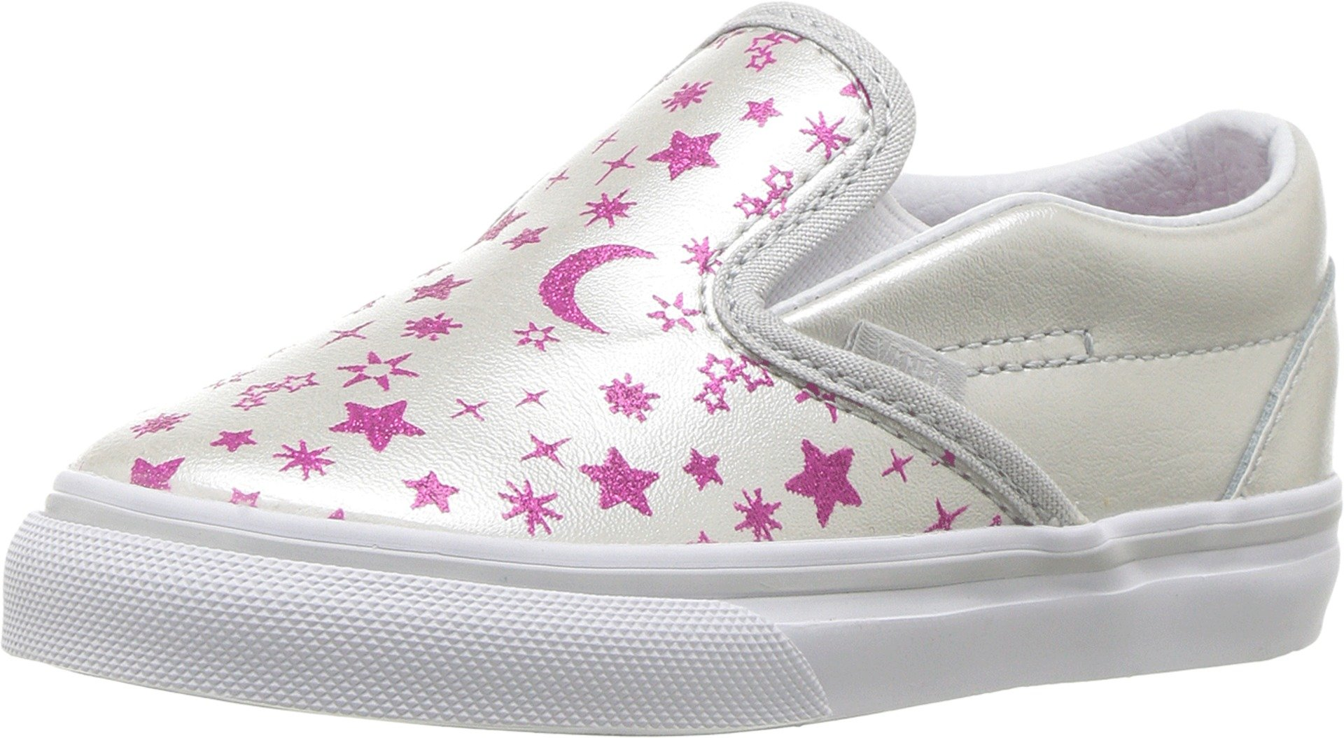 aae4c326cd Galleon - Vans Toddler s Classic Slip-On (Star Glitter) Microchip Glitter  First Walkers Shoes (5.5 M US Toddler)