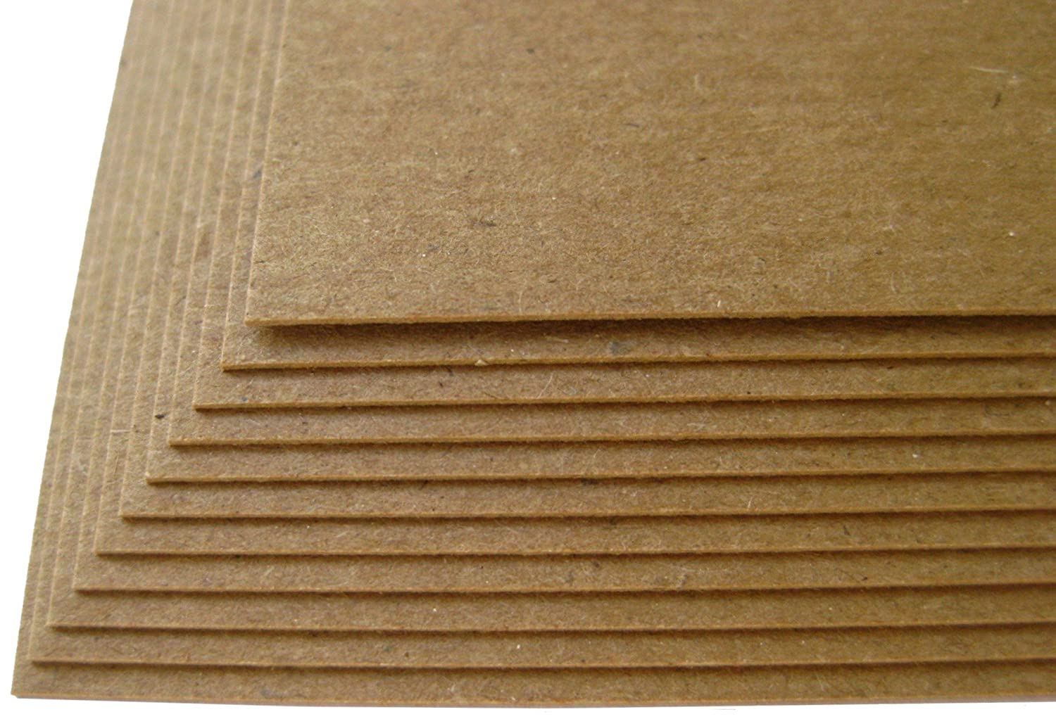 200 Sheets Chipboard 20pt point 8.5 X 11 Inches Light Weight Letter Size .020 Caliper Thick Cardboard Craft|Ship Brown Kraft Paper Board