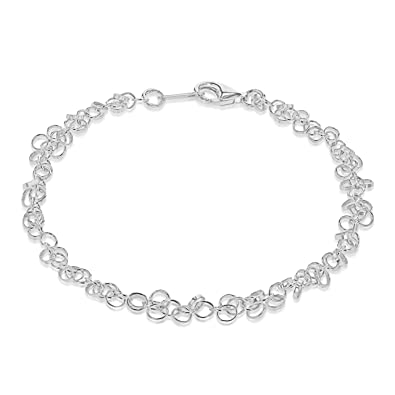 Tuscany Silver Sterling Silver Twist Chain Bracelet of 19 cm/7.5 inch 4GEbSFCO0l