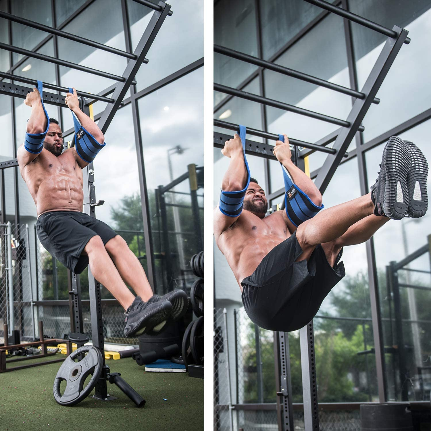 DMoose Fitness Hanging Ab Straps for Abdominal Muscle Building and Core Strength Training