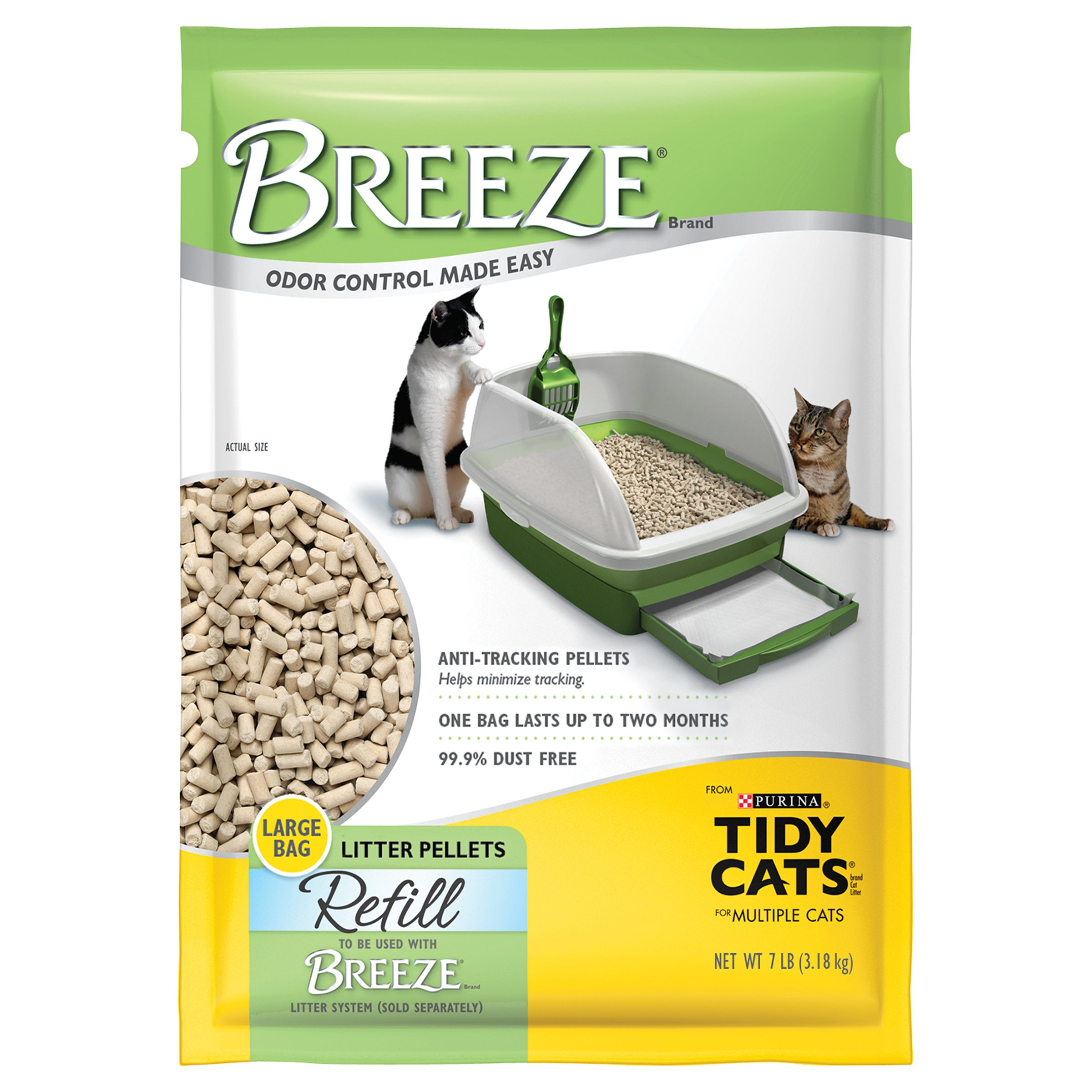 Purina Tidy Cats Breeze Litter System Cat Pellet Refills Litter Pellet Refill