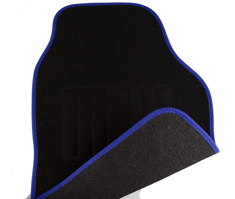 Talon soud/é Coutures de couleur Bleue Safe Travel 27551 Tapis de sol universels pour v/éhicules /à conduite /à droite
