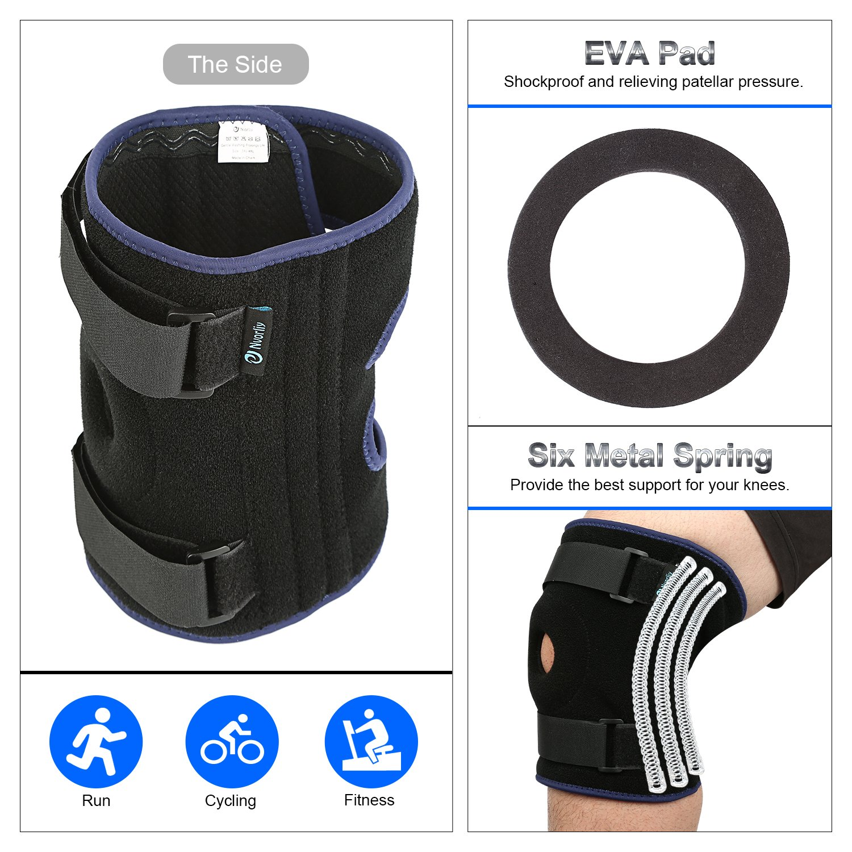 cb1c050771 Nvorliy Plus Size Knee Brace Xl-6XL Extra Large Open-Patella Stabilizer  Breathable Neoprene Support for Arthritis