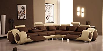 4087 - Bonded Leather Sectional Sofa with Recliners : leather sectionals recliners - islam-shia.org