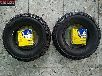 2 neumáticos Michelín S83, tamaño 3.50–8 con 2 cámaras de aire Michelin para VBB: Amazon.es: Coche y moto