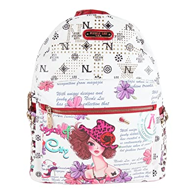 Nicole Lee 20 Inch Backpack, Sunny White, One Size