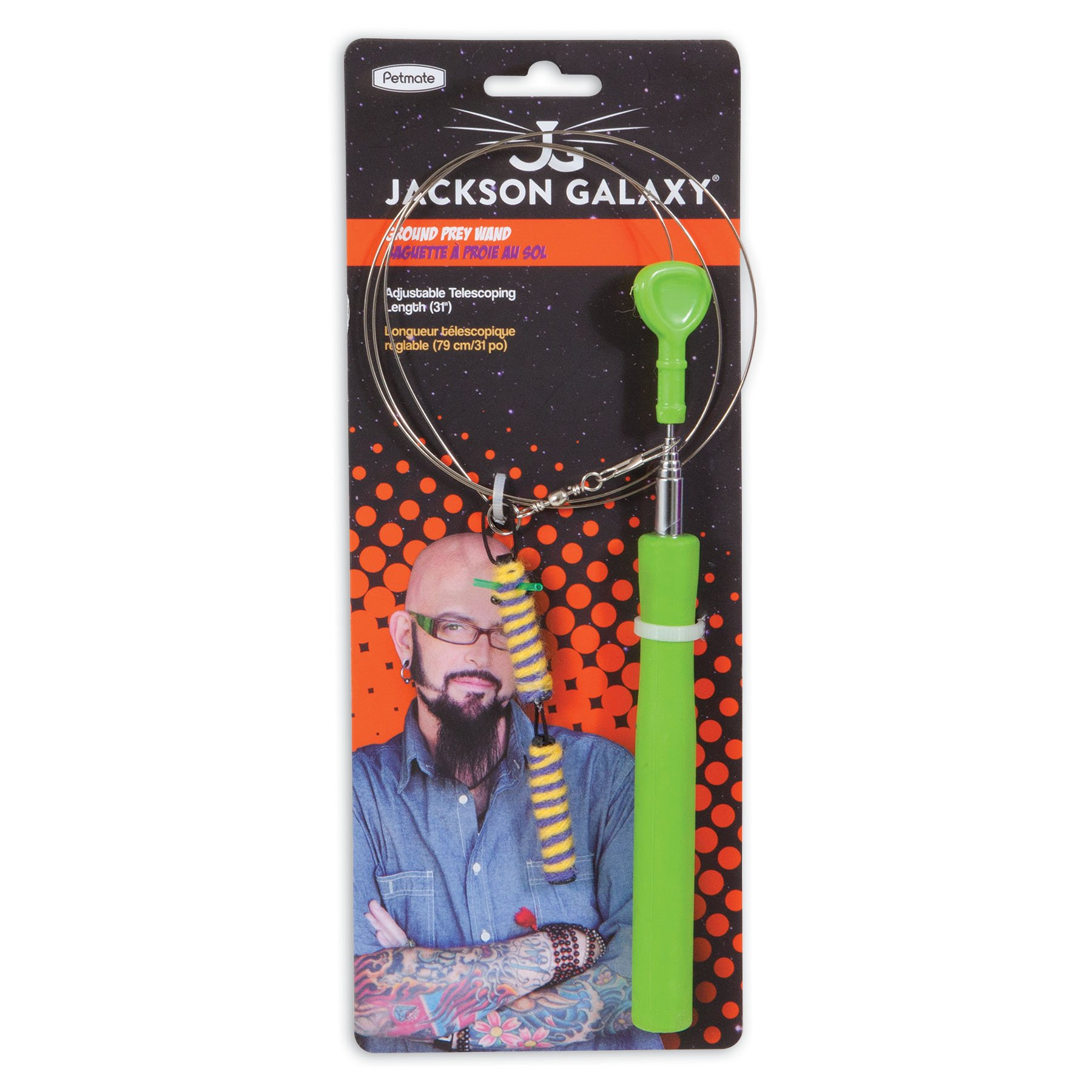 Petmate Jackson Galaxy Ground Wand Rope with 1 Toy