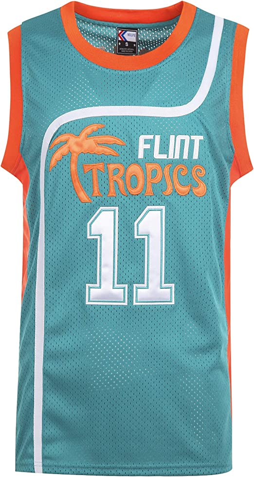 MOLPE Mens Downtown 69Flint Tropics Basketball Jersey S-XXXL Green Stitched Letters and Numbers 90S Hip Hop Clothing