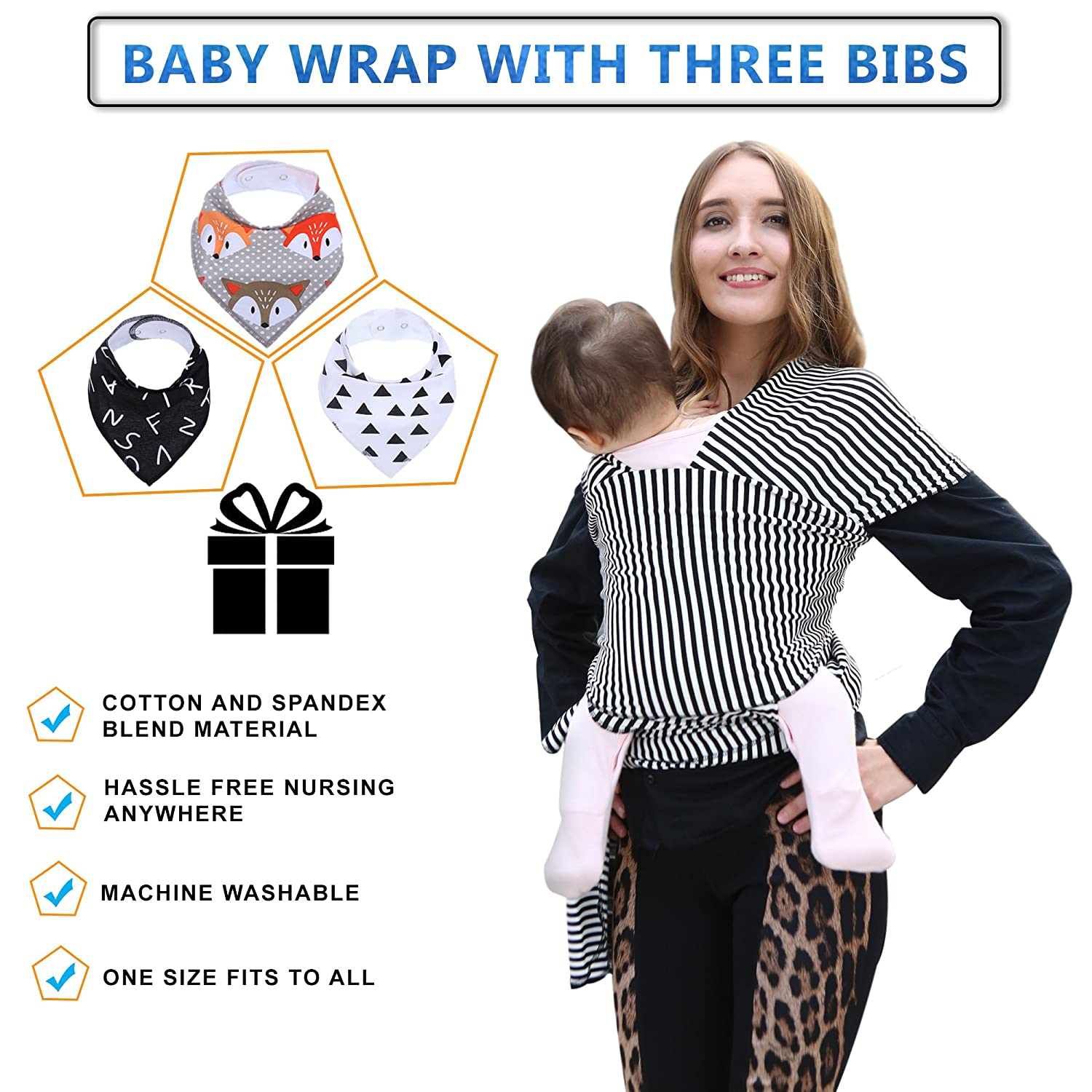 Amazon Com 4 In 1 Baby Wrap Carrier Bundle With Three Premium