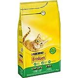 Friskies Adulto Alimento para Gatos Seco con Conejo, Pollo y Verduras Añadidas - 1500 gr
