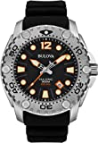 Bulova Sea King Men's UHF Watch with Analogue Display and Black Rubber Strap