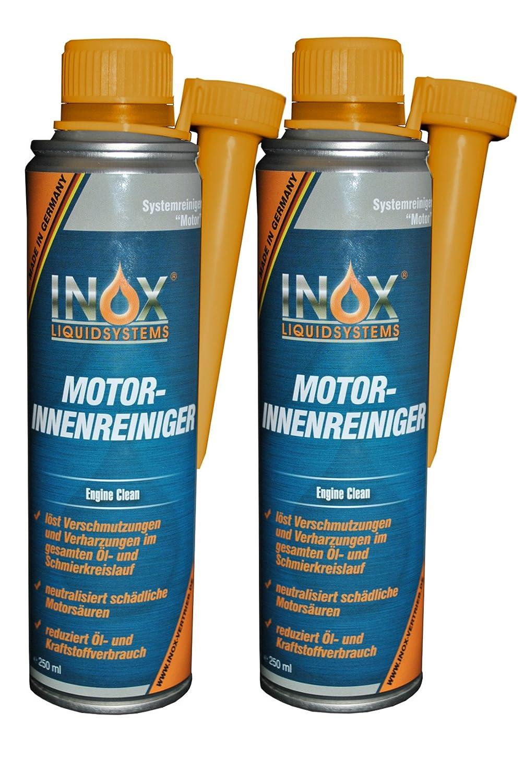 Inox Motor Interior limpiador additiv, 2 x 250 ml –  Limpiador para coche Motor sistemas 2x 250ml-Limpiador para coche Motor sistemas