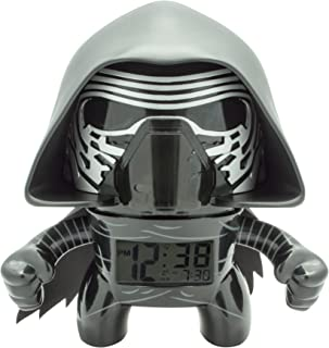BulbBotz Star Wars Kylo Ren Kids Light Up Alarm Clock | Black/Gray | Plastic | 7.5 inches Tall | LCD Display | boy Girl | Official