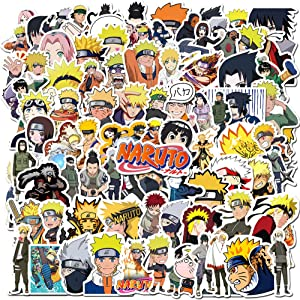 100PCS Naruto Stickers,Anime Stickers for Water Bottle Laptop Skateboard Car Bike Computer Graffiti Decal