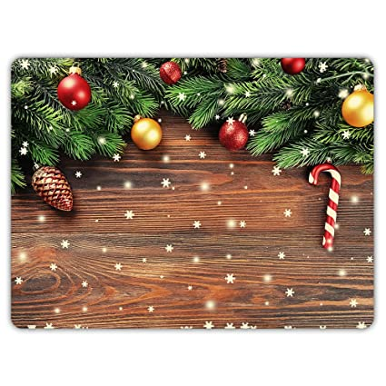 celycasy christmas branches with balls doormat indoor kitchen decor rug mat rubber non slip - Amazon Christmas Decorations Indoor