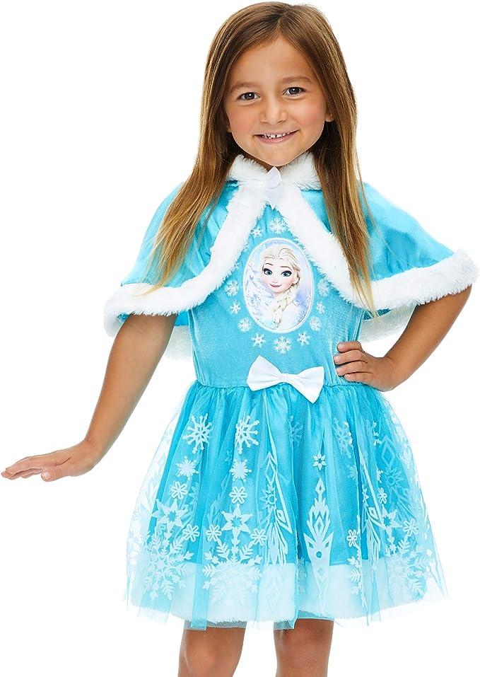 Amazon.com: Disney Frozen Elsa Anna - Disfraz de niña con ...