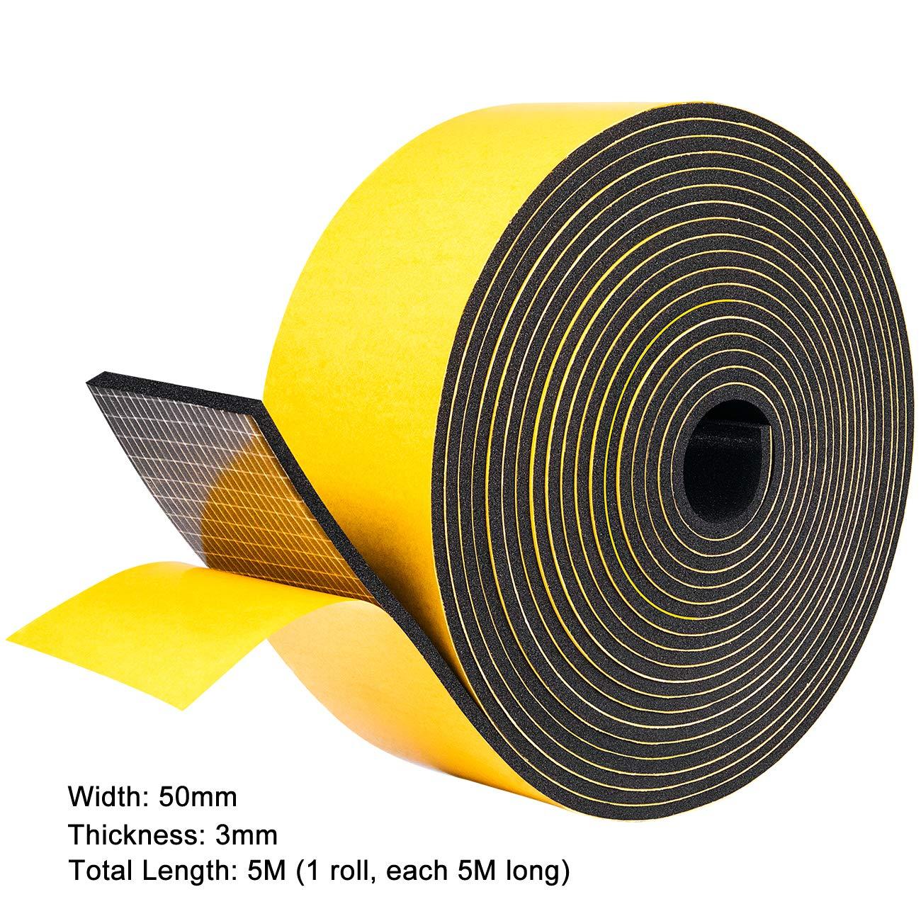 jaune Fowong Bande adh/ésive en mousse auto-adh/ésive /à cellules ferm/ées pour fen/être ou porte