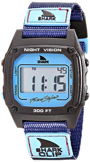 Freestyle Unisex 10019183 tiburón Clip pantalla Digital morado reloj de cuarzo japonés: Amazon.es: Relojes