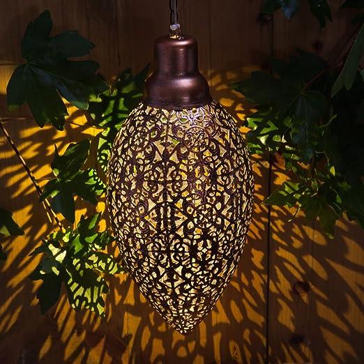 Noma Garden Art : Solar 365 : Metallic Hanging Lantern 9016051