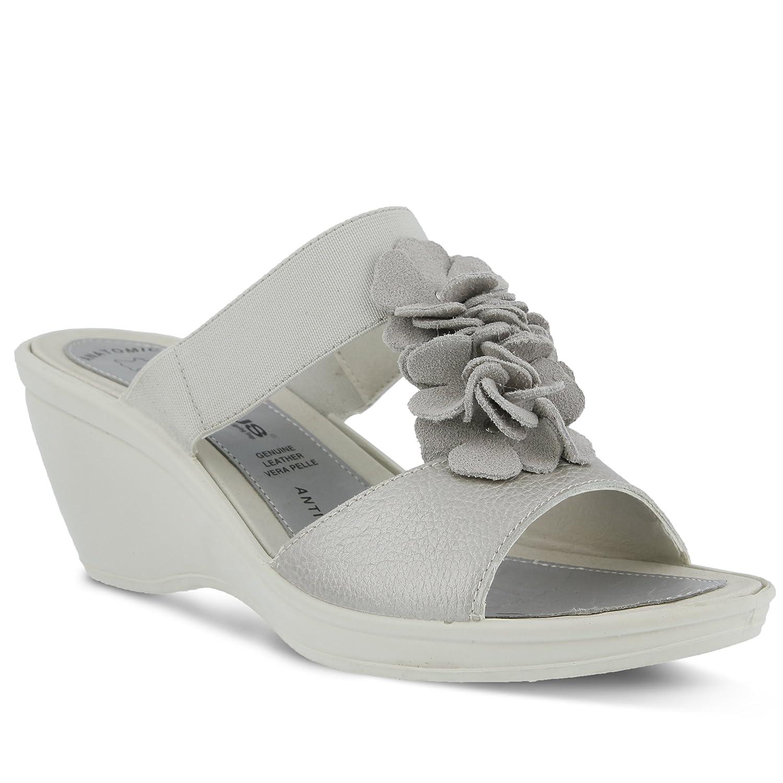 Flexus Women's Gather Sandals B019HYE9GK 37 M EU|Silver